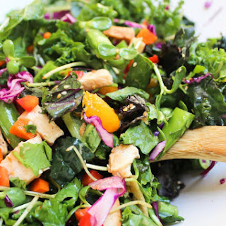 Asian Kale Salad with Sesame Ginger Vinaigrette