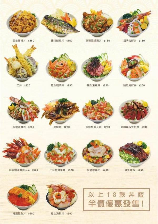 食記:悅勝 (丼飯、生魚片、壽司專賣店) @ 景安捷運站