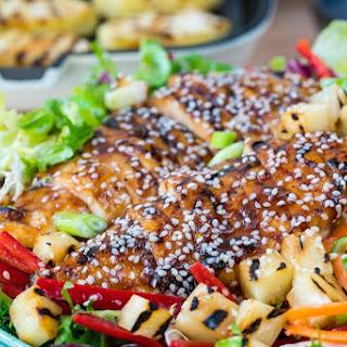 Teriyaki Chicken Salad with Pineapple + Homemade Teriyaki Sauce! Recipe
