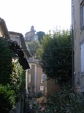 Photo: Here, we look up to the false-front Baroque church and medieval ramparts at the village's summit.