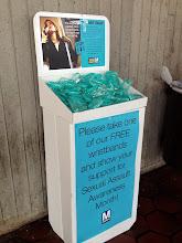 Photo: 4.10.13 anti-harassment week/sexual assault awareness month materials at the Washington, DC metro