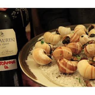 Escargot In Wine.