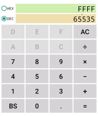 HexCalc D 16進電卓