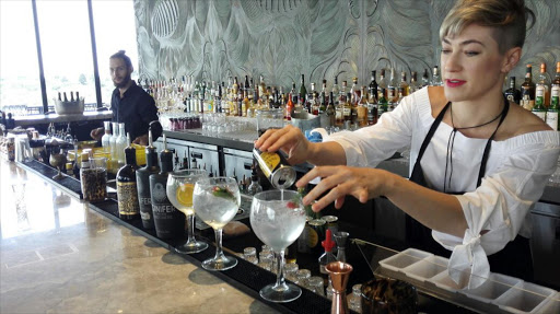 Gin maker Jaqueline Grobler serves her gin at a local restaurant PICTURE: SUPPLIED