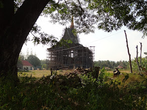 Photo: Temple under construction somewhere in Thailand's back-country.