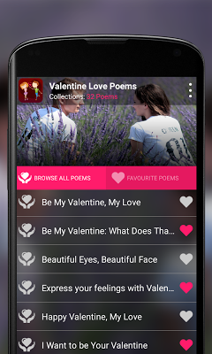 Valentine's Love Poems - screenshot