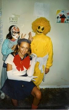 Me as Sailor Moon at 13. My sisters as your nightmares.