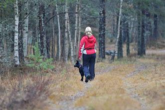 Photo: Bonnie og Torhild går lyttepost