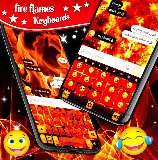 red fire keyboard 🔥 flame keyboard emoji themes screenshot 2