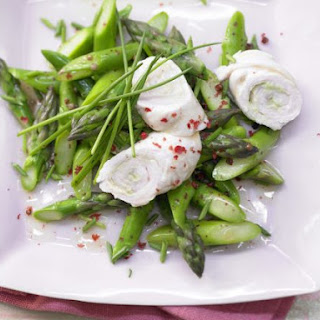 Turkey Rolls with Asparagus Salad