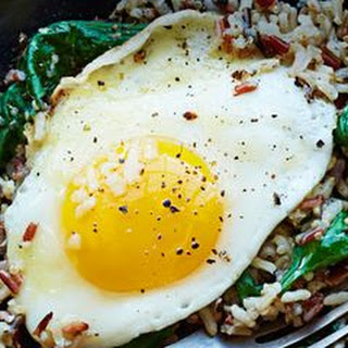 Wild Rice and Spinach Egg Bowl