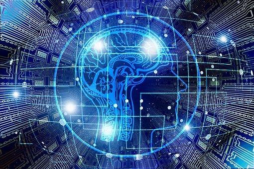 artificial intelligence brain on screen