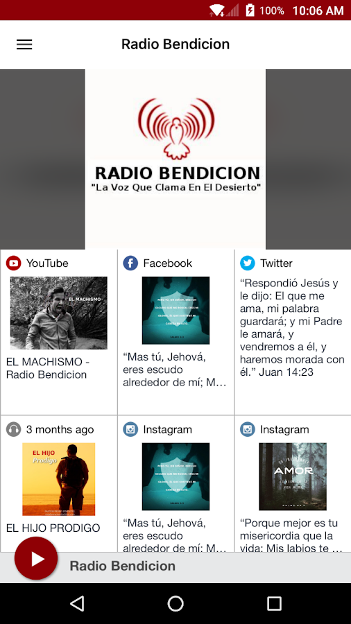 Radio Bendicion- screenshot