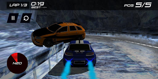 3D Fast Speed Racer on Hill