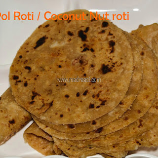 Thengai Roti / Coconut Roti / Pol roti.