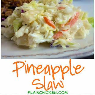 Pineapple Slaw.
