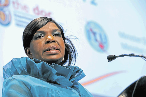 Minister of Communications Dina Pule at the ICT Indaba. File photo.