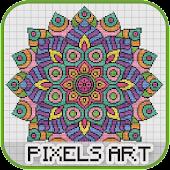 Tải Mandala Pixel Art miễn phí