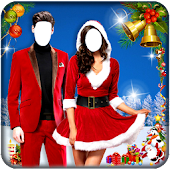 Christmas Couple Photo Montage