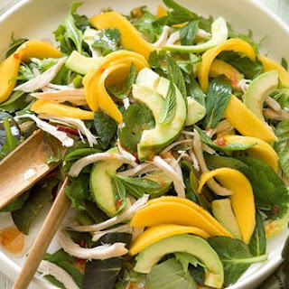 Cold Turkey Salad With Mango And Honey Dressing (gluten Free)