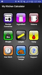 Kitchen Calculator (Converter) v4.0.1