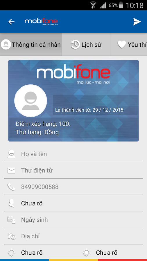 Mobifone mConnect- screenshot