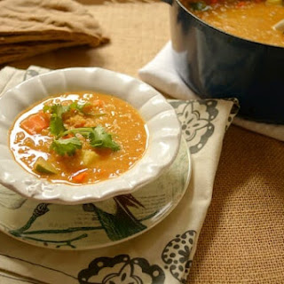 Red Lentil Coconut Curry Soup.