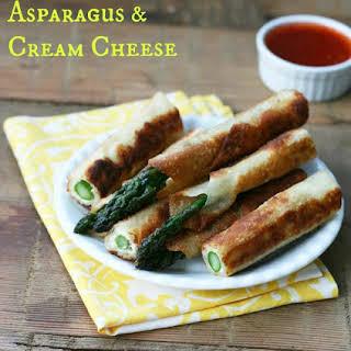 Asparagus-Cream Cheese Wonton Fries.