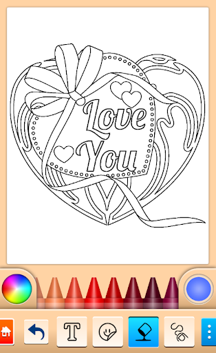 Valentines love coloring book filehippodl screenshot 9