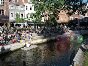 Photo: Aarhus Festival fun on the canal that goes through the town.