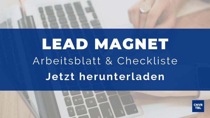 Lead Magnet Arbeitsblatt & Checkliste