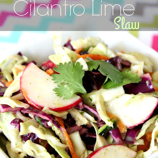 Summer Cilantro Lime Slaw