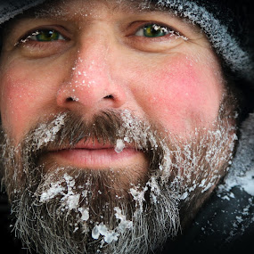 Frozen Charlie by Chrysta Rae - People Portraits of Men ( ohcanada, cold, snow, canadian, frozen face, snowy, handsome, freezing, frozen, man, portrait,  )