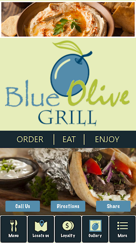 android Blue Olive Grill Screenshot 0
