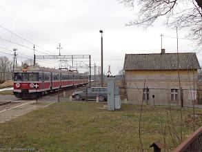 """Photo: EN57-1376, IR """"Drwęca"""" Olsztyn Główny - Poznań Główny {Rychnowo Wielkie; 2014-02-15}"""