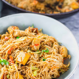 Peanut Noodles with Tofu.