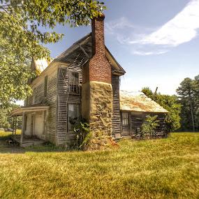 Abandoned farmhouse by Debra Graham - Buildings & Architecture Decaying & Abandoned ( abandoned farmhouse )