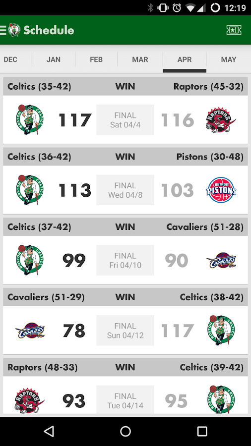 Boston Celtics- screenshot