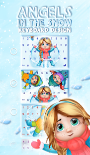 Angels In The Snow Keyboard Design - náhled