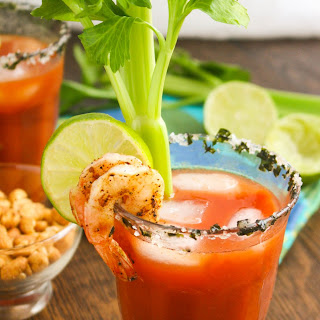 Asian Bloody Mary Cocktails.