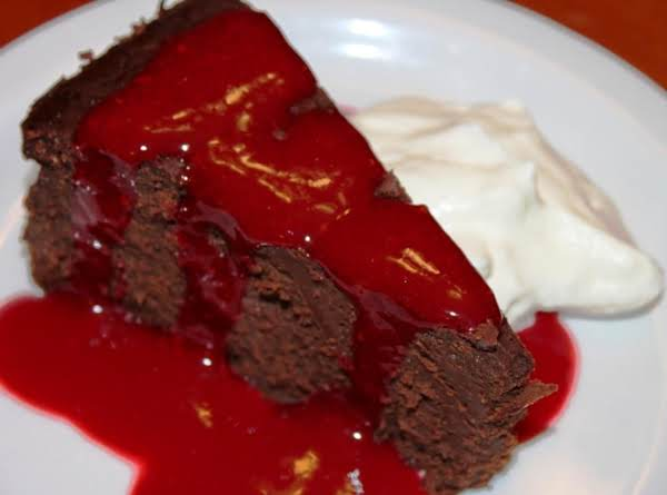 Dark Chocolate Truffle Cake With Raspberry Sauce Recipe