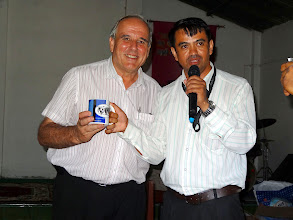 Photo: MTM honored Pastor Anand with a gift of appreciation for hosting and facilitating a wonderful conference.