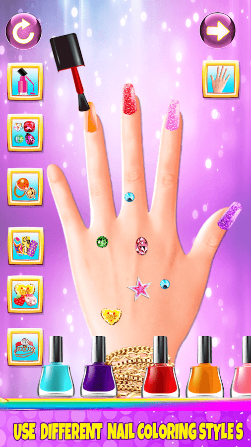 Nail salon girl games android apps on google play for A list nail salon game