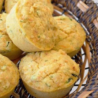 Zucchini Carrot Cornbread Muffins