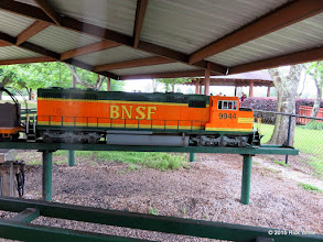 Photo: David Hannah's BNSF 9944, which was used to haul both steamers to the steaming bays.    HALS Public Run Day 2015-0418 RPW