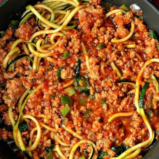 Turkey Spaghetti Zoodles Recipe