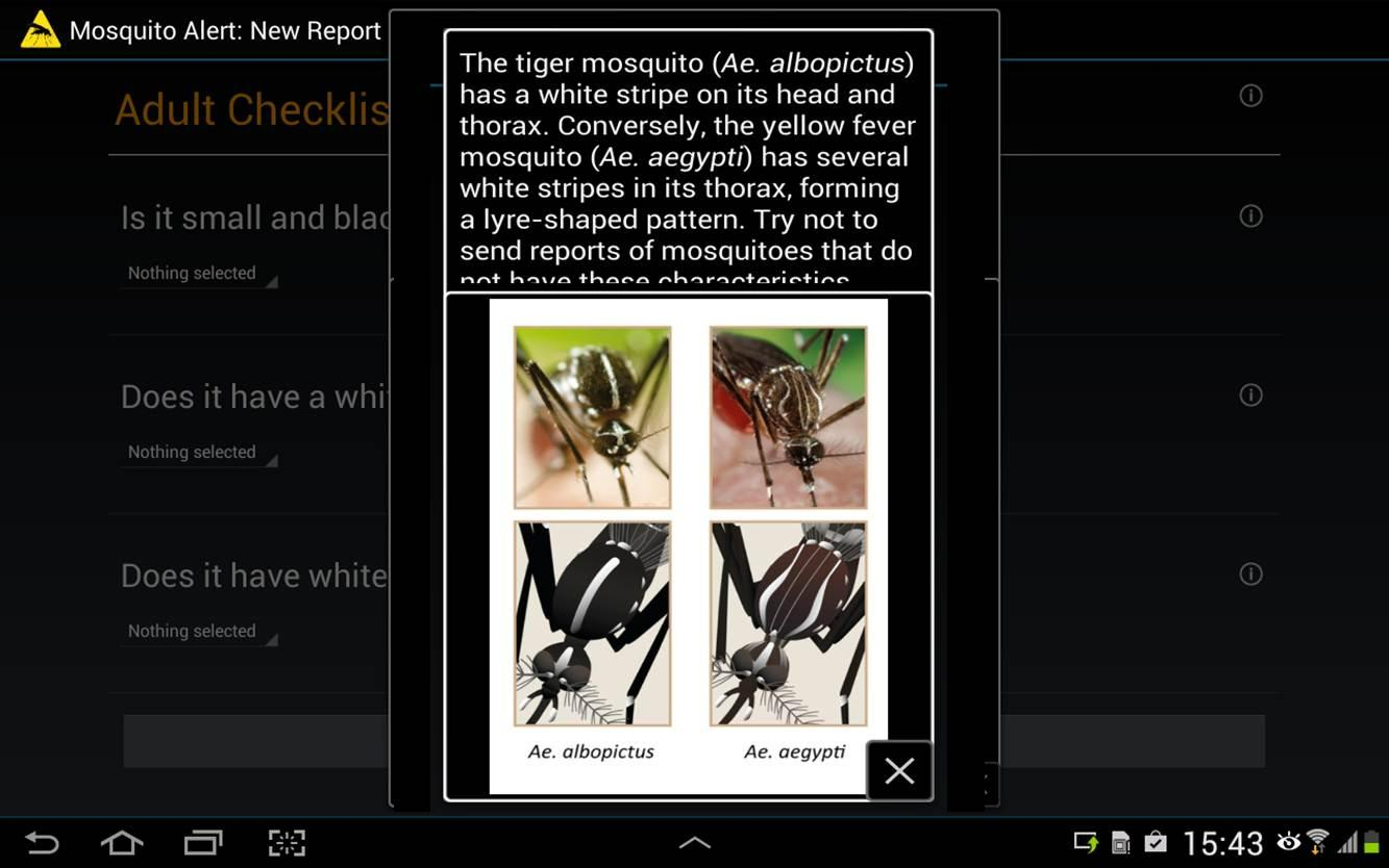 Mosquito Alert- screenshot