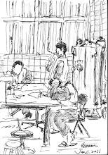 Photo: 雜役2011.01.11鋼筆 監所用收容人為雜役代行事務已行次有年,沒有他們監獄可能會停擺,有他們又有管理上的問題,唉…兩難!