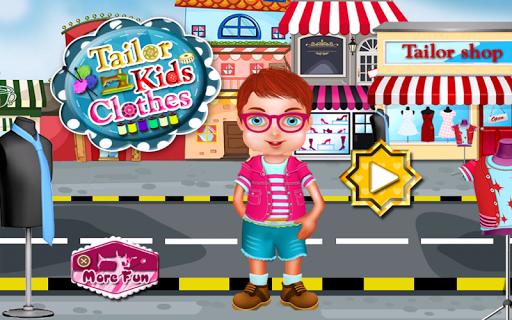 裁缝衣服孩子游戏