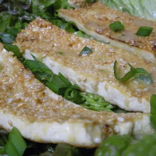 Sesame Seared Tofu With Jalapeno Miso Dressing